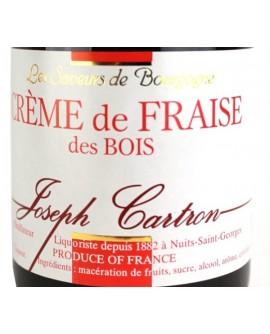 Crème de Fraise des bois Saveurs Joseph CARTRON