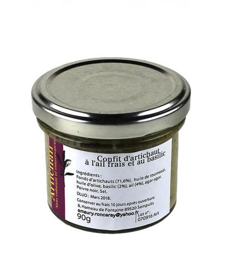 Confit d'artichaut à l'ail frais et au basilic
