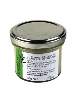 Mousse d'ail confit Citron vert et Limerquat