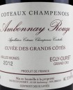 Coteaux Champenois Ambonnay Rouge Grand Cru
