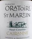Oratoire St Martin 2014 Cairanne Haut-Coustias