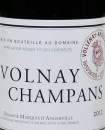 Domaine Marquis d'Angerville 2012 Volnay Champans