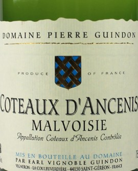 Coteaux d'Ancenis Malvoisie 2013 GUINDON
