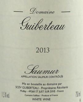 Saumur 2013 Domaine Guiberteau