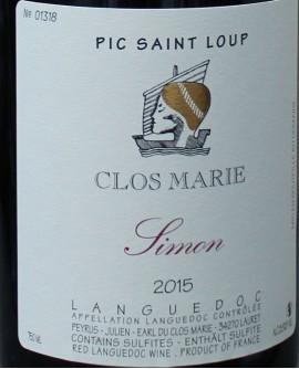 Pic Saint Loup 2015 Clos Marie Simon