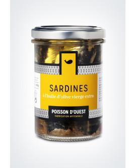 Sardine debout à l'huile d'olive