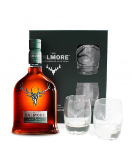 Whisky dalmore 15 ans coffret 2 verres