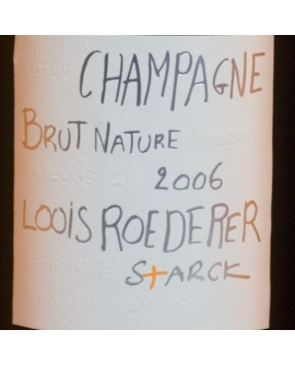 Louis Roederer Brut Nature 2006 signé Starck