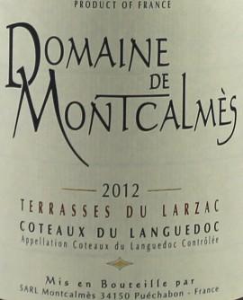 Domaine de Montcalmès Terrasses du Larzac 2012
