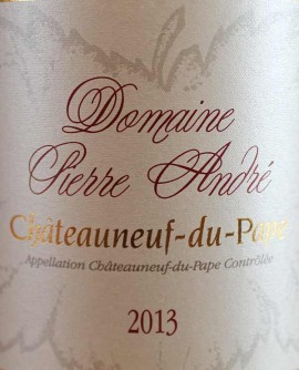 Chateauneuf 2012 rouge Pierre André